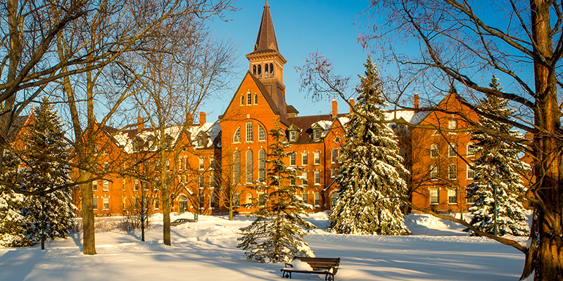 UVM green in winter