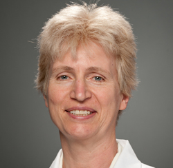 Claire Verschraegen, M.D., Professor of Medicine, Chief of Hematology/Oncology, and Co-Director of the Vermont Cancer Center