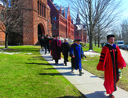Procession of Endowed Professors