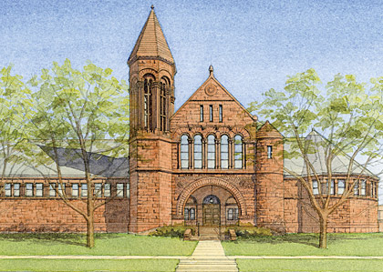 Billings Library illustration