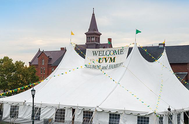 UVM Reunion tent