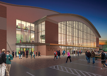 architectural rendering of new hockey arena