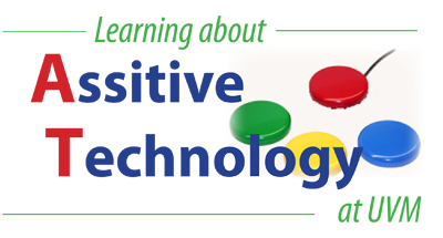 Logo: Learning about Assistive Technology at UVM