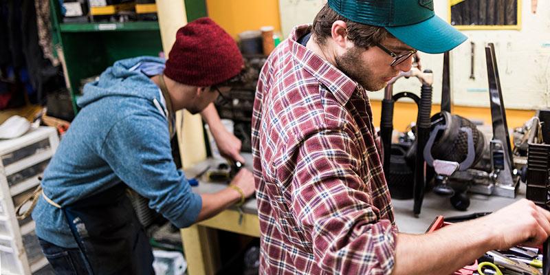 Bike recycle Vermont's Workshop