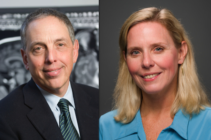 Steven Braff, M.D., Professor of Radiology (left) and Kristen DeStigter, M.D., Professor and Interim Chair of Radiology (right)