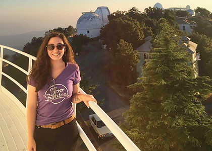 Casey Brinkman at the Lick Observatory in San Jose, California.