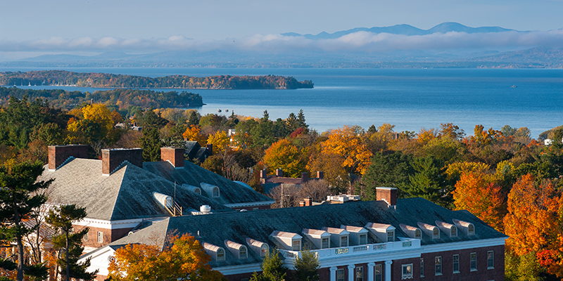 Campus and Lake Champlain