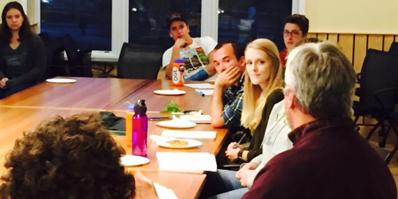 Students meet with professionals from state agency.