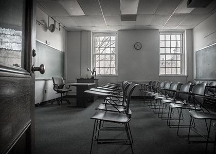 Empty UVM classroom
