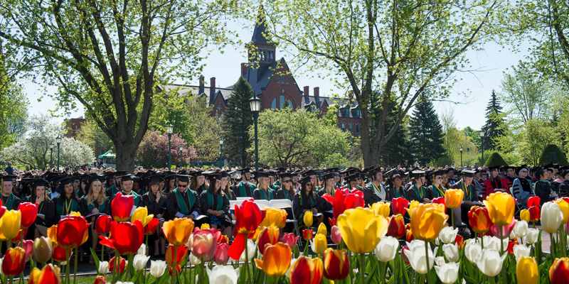 Commencement on the UVM Green