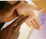photo of hands signing
