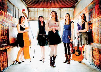 Della Mae band with Celia Woodsmith