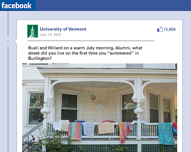 UVM facebook page