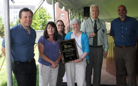 members of PPD receiving award