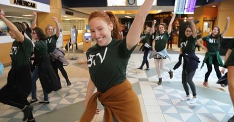 UVM Dance flash mob at the airport