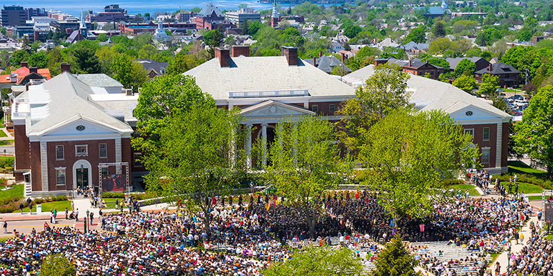 University of Vermont on commencement day