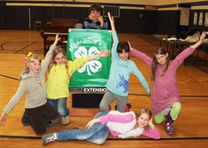 Members of the Green Mountain Thunder 4-H Club