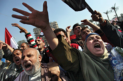 Protest in Tahrir Square, Cairo, Egypt