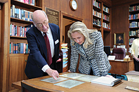 Professor Mark Stoler and Hilary Clinton