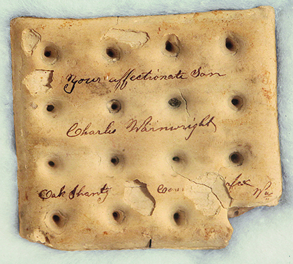 Hard tack with writing