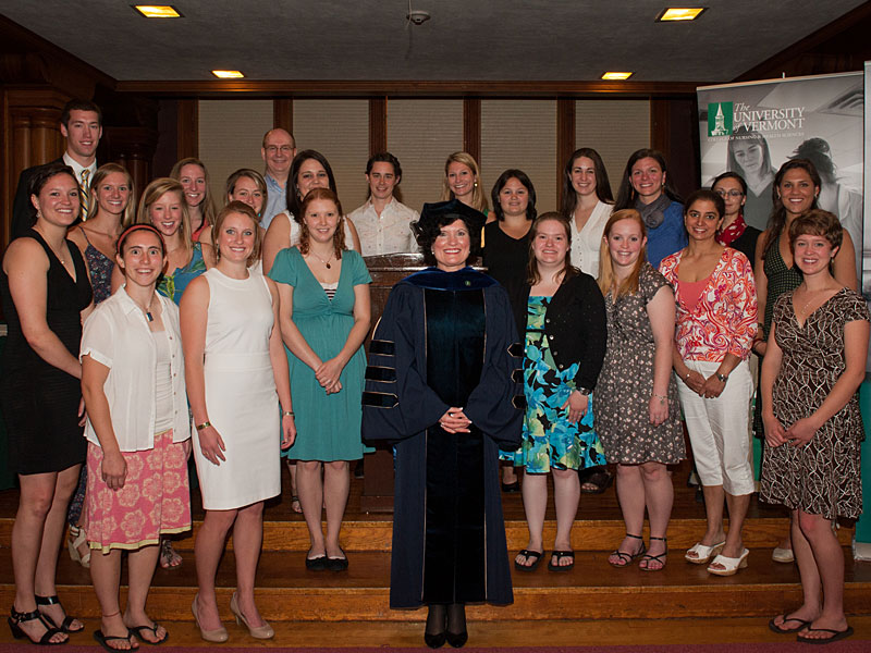 CNHS Dean Patty Prelock with 2012 Award Winners