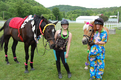 Two 4-Hers and their horses in Tunbridge