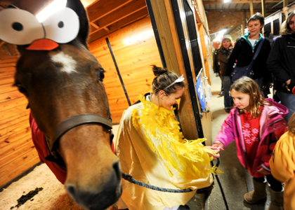 Horse Barn trick-or-treating