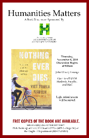 Humanities Matter Book Discussion Poster