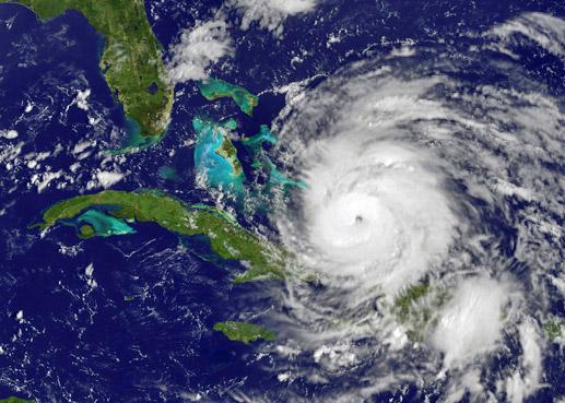 hurricane sattelite image