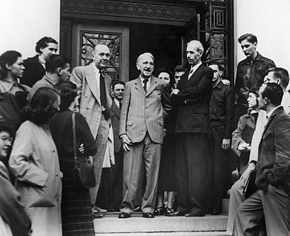 John Dewey in front of Waterman