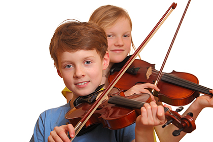 Children with violins