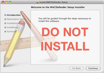 Do not install false Mac antivirus software.