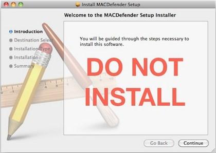 Do not install false Mac antivirus software.
