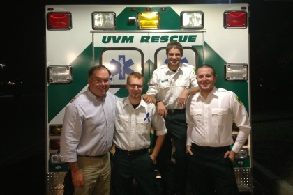 Patrick Malone and UVM Rescue members.