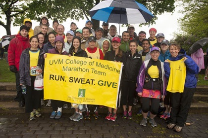 College of Medicine Marathon Team poses on the morning of the run.
