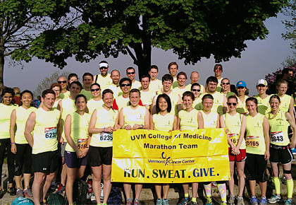 UVM College of Medicine Marathon Team group photo