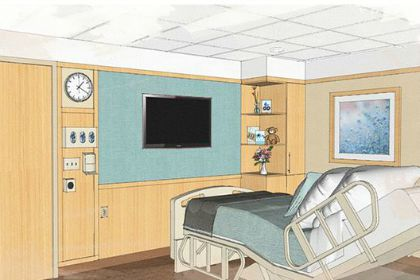 Rendering of the UVM Medical Center's New Mother-Baby Unit. (Courtesy)