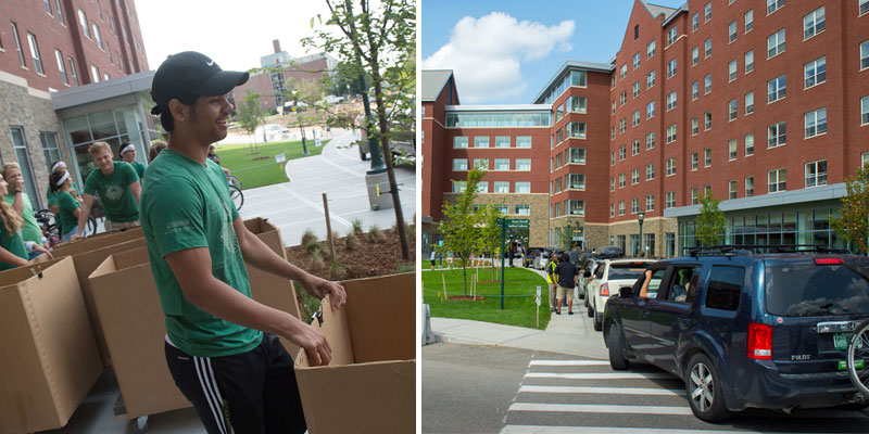 Move-in day at the Central Campus Residence Hall