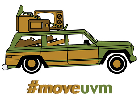 #moveuvm logo with packed car