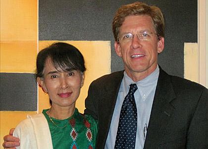 Patrick Murphy and Aung San Suu Kyi