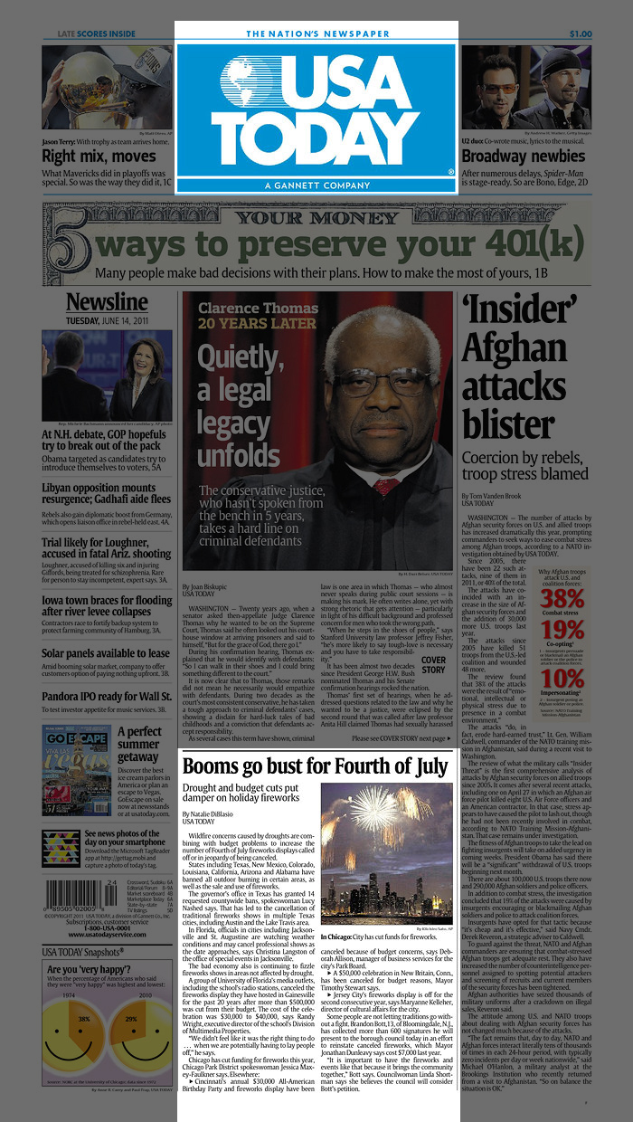 USA Today June 14, 2011