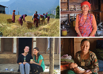 group of photos of women in Nepal taken by student Emma Squier
