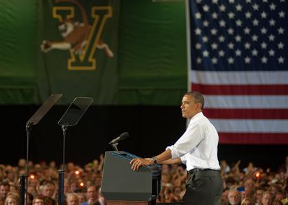Obama at UVM