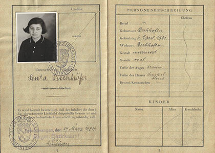 Senta Baum's passport