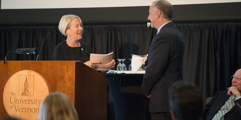 Peace Corps director gives book to Rosowsky