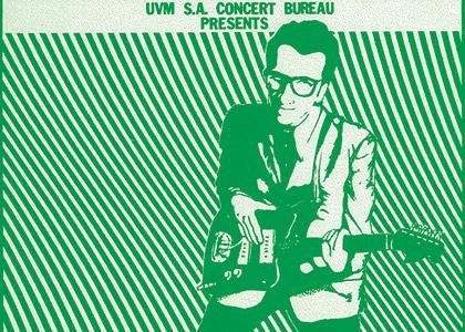 Elvis Costello concert poster