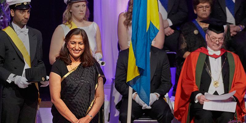 Pramodita Sharma being awarded degree