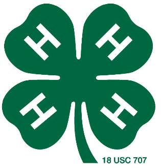 green 4-H clover with white H's in each leaf