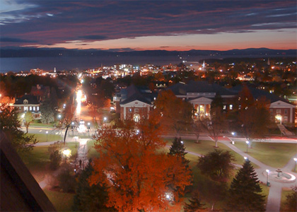 Campus and downtown Burlington