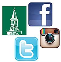 Twitter, Facebook, Instagram logos